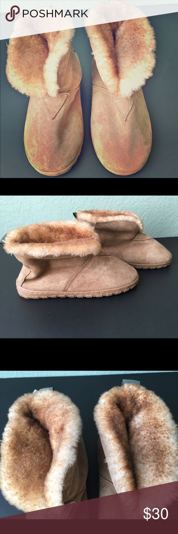 Cloud Nine Sheepskin Booties Cloud Nine Sheepskin Booties ~ Genuine Sheepskin ~ Suede Leather - Upper ~ Synthetic Leather - Outer Sole ~ The fleecy cover flips up over your ankles or you can flip down. ~ Super warm and cozy! Cloud 9 Shoes Ankle Boots & Booties