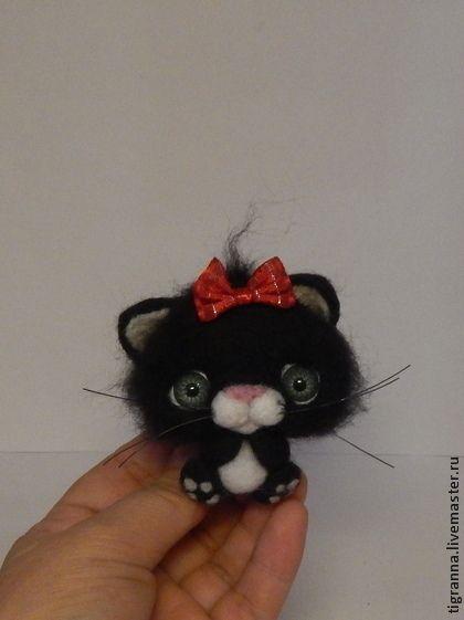 Куклы и игрушки ручной работы. Котята черные. Тигранна. Ярмарка Мастеров. Котик, игрушки из войлока