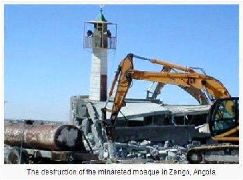 WOO HOO! African state of Angola bans Islam and will destroy all the mosques