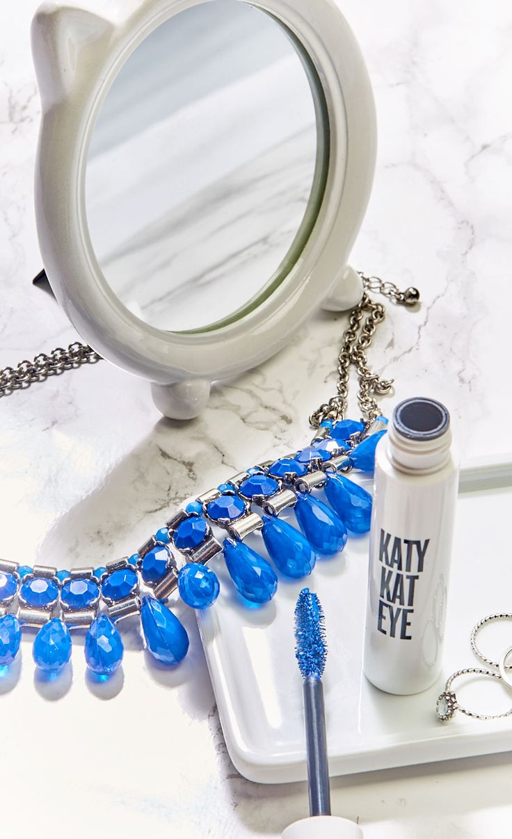 Katy Kat Eye Mascara: 10X the volume and no smudging. Try it in Perry Blue or Very Black.