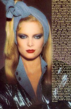 Vogue Italia January 1978 Photo François Lamy Model Lisa Cooper