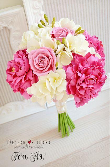 """Купить Букет невесты """"Страсть и нежность"""" из фоамирана - букет невесты, букет невесты из фоамирна"""