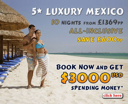 Cancun Holidays: Luxury All Inclusive twin centre in Cancun  http://www.theholidayplace.co.uk/holiday_itinerary.asp?s=4606