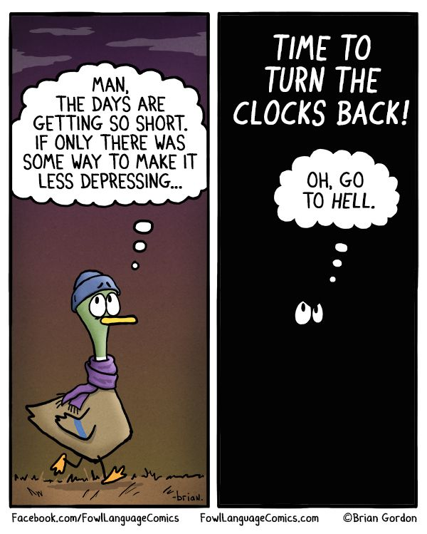 Depressing Daylight Savings Time