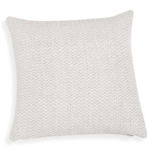 Fodera di cuscino di cotone bianco e fili argentati 40 x 40 cm IBIZA