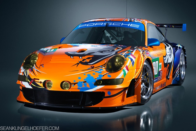 Troy Lee Designs' special paint job for Flying Lizards Porsche entries in this year's 24Hrs of LeMans.
