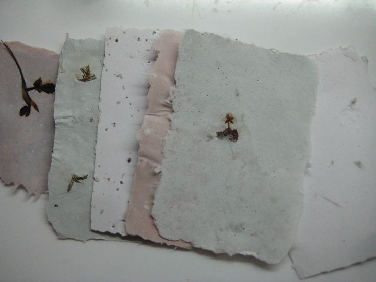 Handmade recycled paper with inlays