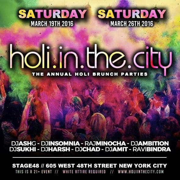 Saturday March 19th - The Biggest Holi Parties 2016 in New York, NY | Indian Event