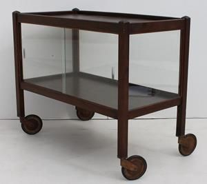 Vintage Retro Display Cabinet Trolley on Wheels  trolley enclosed with glass all around and two sliding glass doors on the one side  size: 780 L x 400 W x 660 H  @R1200  Call 0767064700