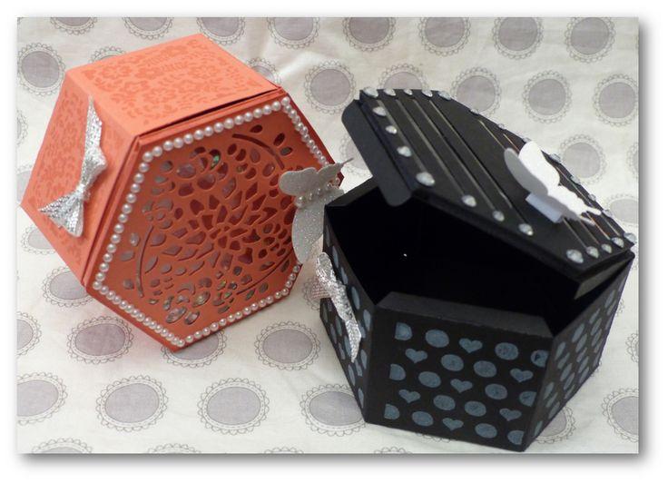 """Coul'Heure Papier: """"Boîte Hexagonale"""" et un peu plus ! Partie 1 [Tutoriel]"""