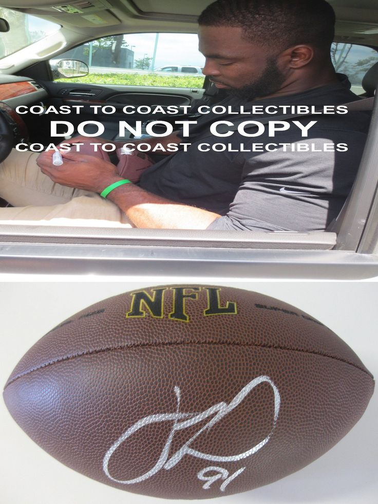 Justin Tuck, Oakland Raiders, New York Giants, Signed, Autographed, NFL Football, a COA with the Proof Photo of Justin Signing Will Be Included