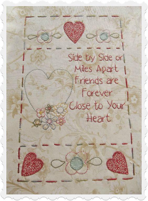 Quilt Label Quotes Friends