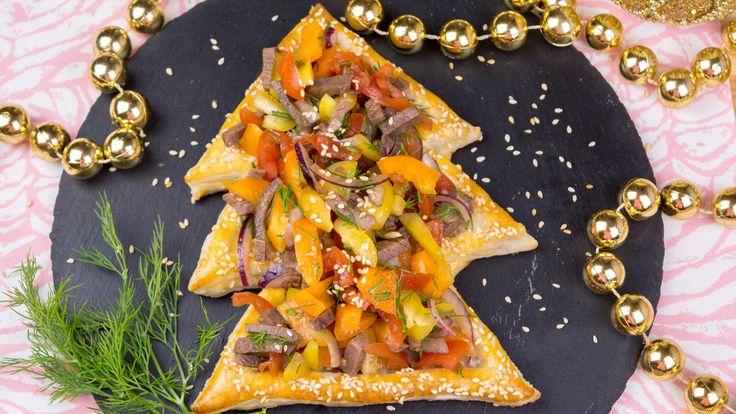 Новогодний салат из говядины и перца в Ёлочка
