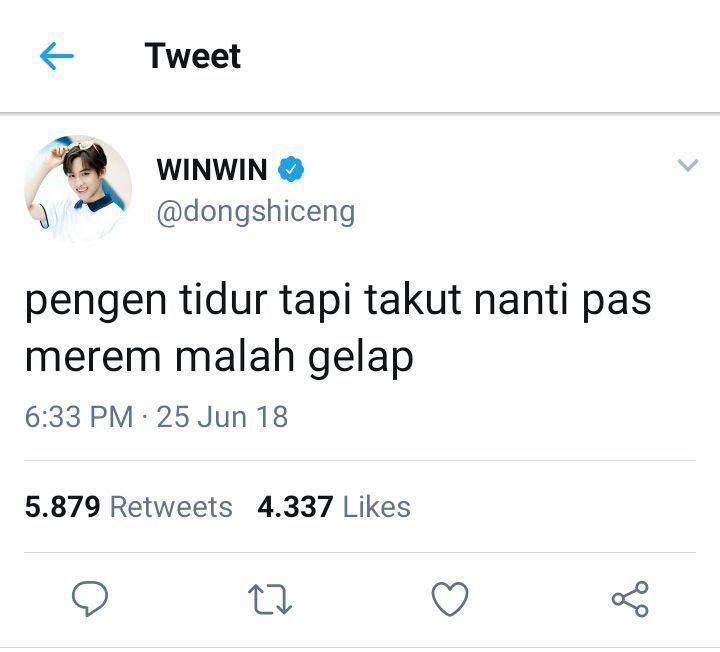 Nct Talk Twitter 9 Winwin Ungkapan Lucu Humor Twitter