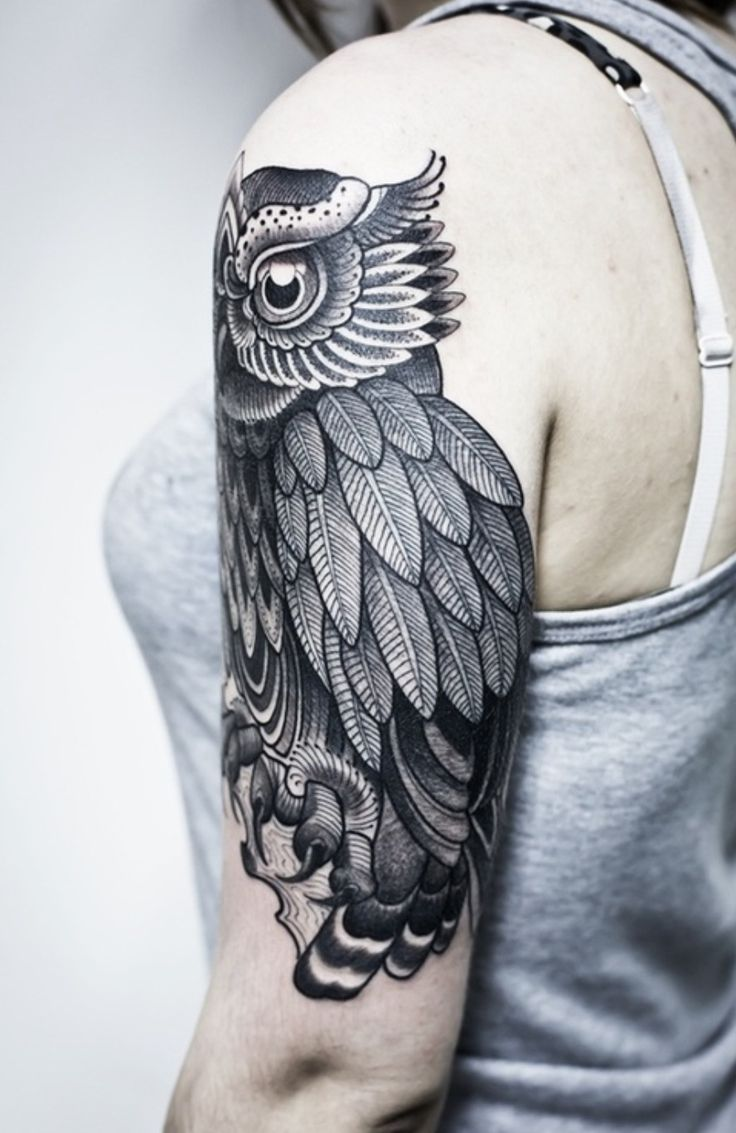 Line and dotwork owl tattoo | Buho Tattoo | Pinterest ...