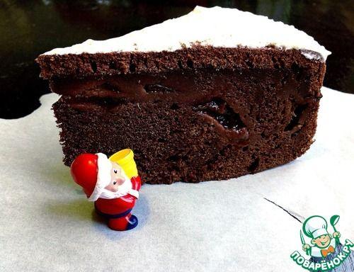 """Шоколадный пирог """"Королевская слива"""" - кулинарный рецепт"""