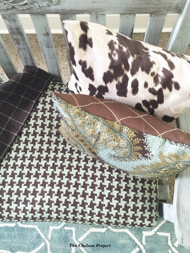 One-hour No-sew Slipcovers - Seat cushions are easily refreshed using a sew or no-sew slipcover.