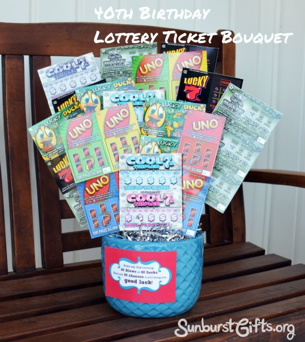 Lottery Ticket Bouquet Birthday Gifts Thoughtful Gift