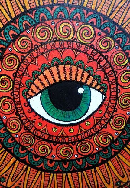 Vibrant Sun Healing Mandala by Selina Huntley