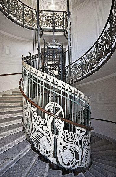 Vienna, Austria, designed by Otto Wagner;