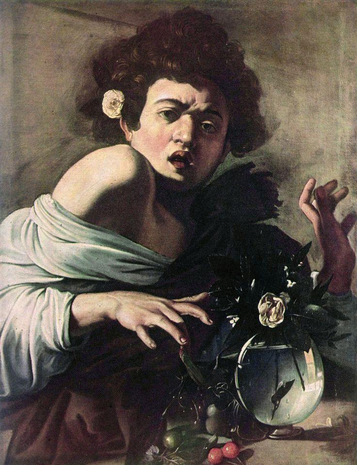 Caravaggio - Ragazzo morso da un ramarro, 1595-1596, olio su tela, 65,8 × 52,3 cm, Firenze, Fondazione Roberto Longhi.