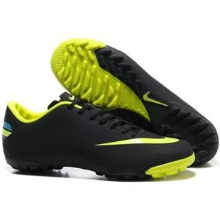 http://www.asneakers4u.com Nike Mercurial Vapor VIII TF Indoor  Black and Volt Nike Astro Turf Football Cleats