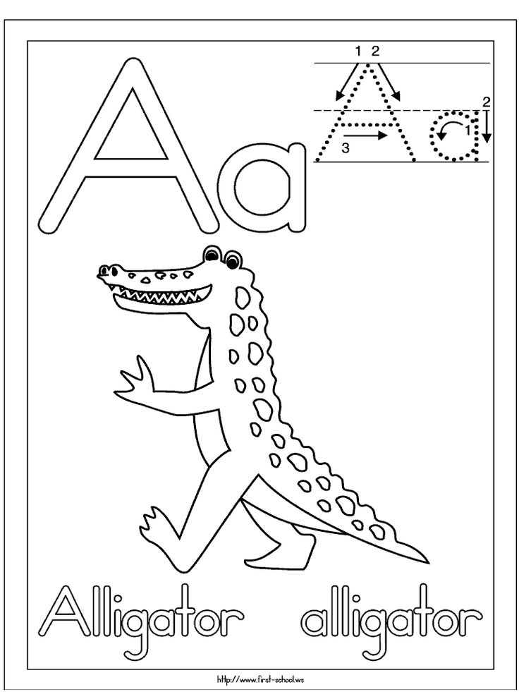 alligator picture to color for a week