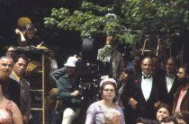 """""""The Godfather"""" Marlon Brando, Robert Duvall, Francis Ford Coppola and cast and crew 1972 Paramount"""