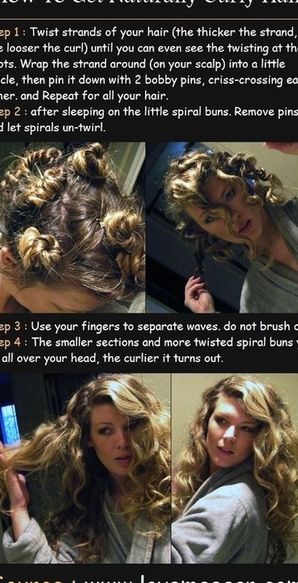 You Can Also Easily Curl Your Hair Overnight Without An Iron The Essential Lazy Beauty Routine For Peop In 2020 Hair Without Heat Curl Hair Without Heat Curls No Heat
