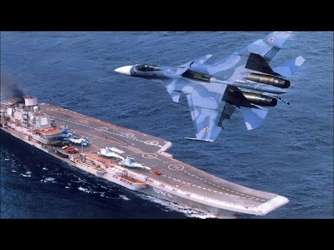 Russian Naval Strike Group Led By Aircraft Carrier Admiral Kuznetsov In Action In The Mediterranean