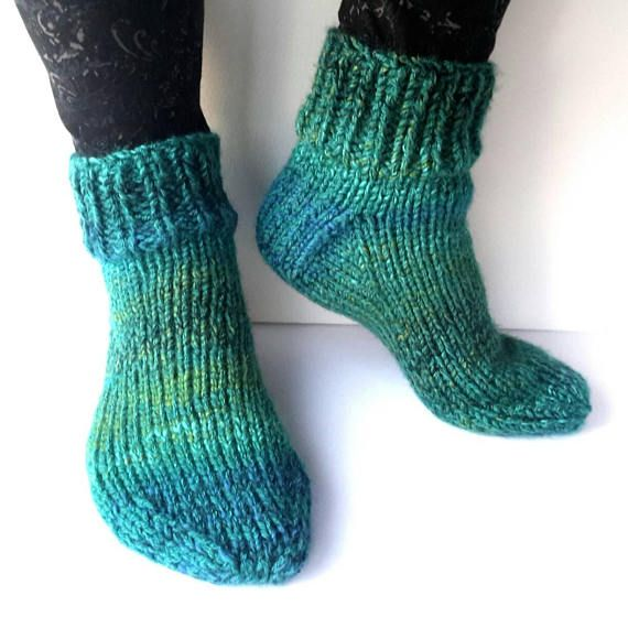 Check out this item in my Etsy shop https://www.etsy.com/uk/listing/580717666/green-knitted-slippers-slipper-socks