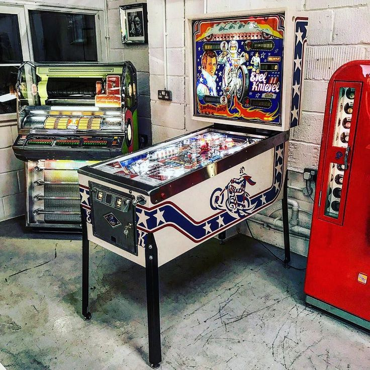 Our #evilknievel pinball machine looking glorious in our showroom this Sunday.  #pinballwizard #pinballs #pinballmachine #pinballhalloffame #pinballlife #pinballmachines #decorate #homedecor #interiordesign #interiordesignideas #interiordesigners #interiordesigns #decor #decorating #homedesign #design #designanddecoration #house #interiors #architecture #instadecor #instadesign #style #antique #style #living #office #photo #love #photooftheday