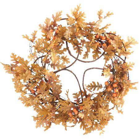 フェイクオークの葉の花輪