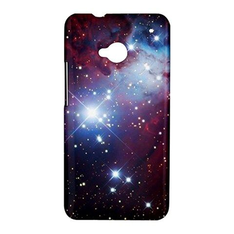 Space Star Cone Nebula HTC One M7 Hardshell Hard Case Cover Galaxy Planet Sparkle Star