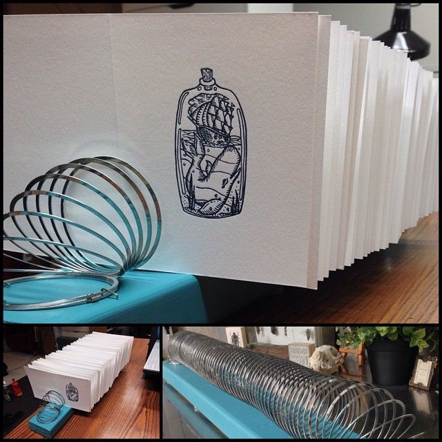 Print Drying Rack Made from Slinky