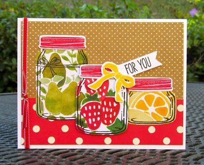 Krystal's Cards: Stampin' Up! Jar of Love Fruit Stand #stampinup #krystals_cards #jaroflove #onlinecardclass