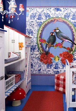 #Kinderkamer in Hollandse stijl  Pip wallpaper colletion by Eijffinger