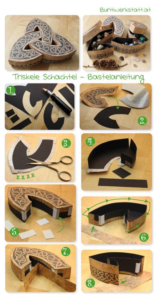 Celtic boxes printable pattern. / Anleitung und Vorlage für eine keltische Box