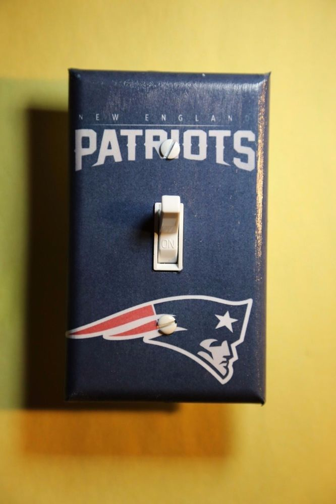 NFL New England Patriots Football Light Switch Cover sports man cave room decor #Unbranded