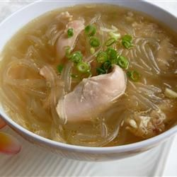 "Chicken Long Rice Soup ""This Hawaiian style chicken soup has been a family favorite for many generations. The leftovers are great, and it freezes well. """
