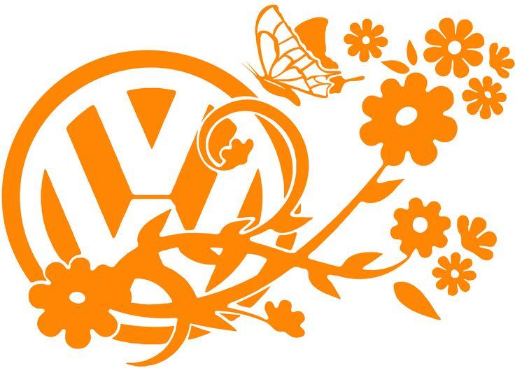 Vw Volkswagen Transporter T4 T5 T25 T2 Flower Butterfly Vinyl Decal Sticker Bay | Volkswagen and ...