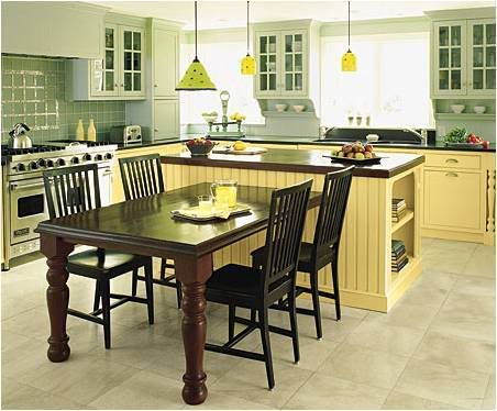 Kitchen Island Table Combo Ideas Yellow, Photo Kitchen Island Table Combo  Ideas Yellow Close Up View. NOT The Yellow And The Table Unattached For My  Kitchen ...