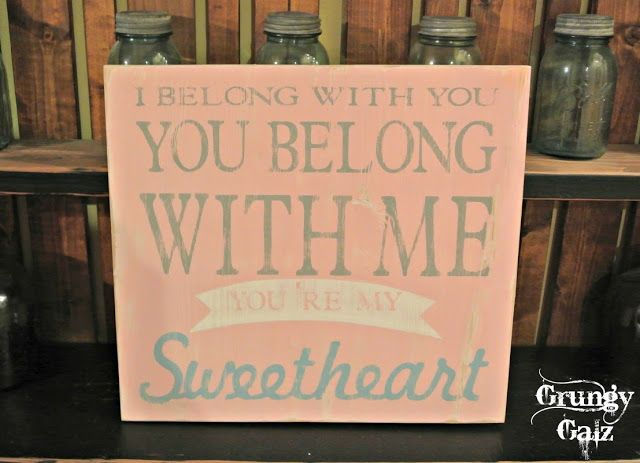 Hey Ho inspired sign~ For a baby's nursery! Grungy Galz #customsign #sweetheart  #woodsign