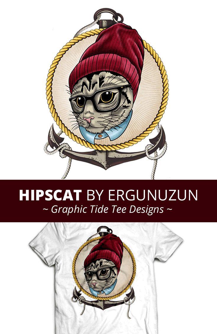 Design t shirt art - Hipscat T Shirt Design By Ergunuzun Art Design Creative Tee