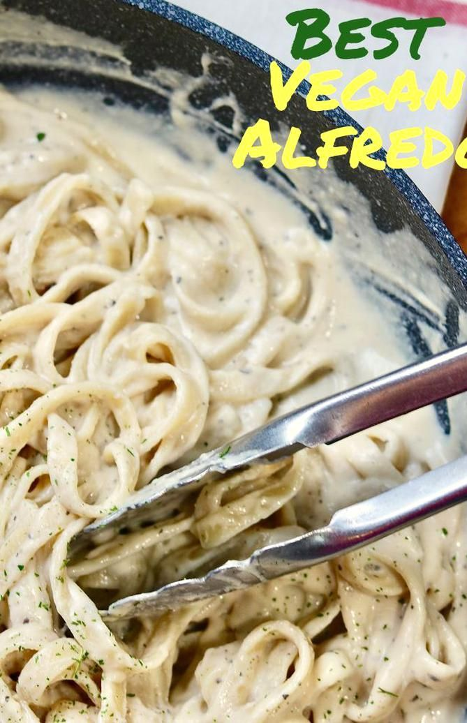 Rich Creamy And Totally Decadent Vegan Alfredo Sauce With Fettuccine It Is The Best Recipe And So Easy To In 2020 Vegan Alfredo Sauce Vegan Alfredo Vegan Pasta Sauce