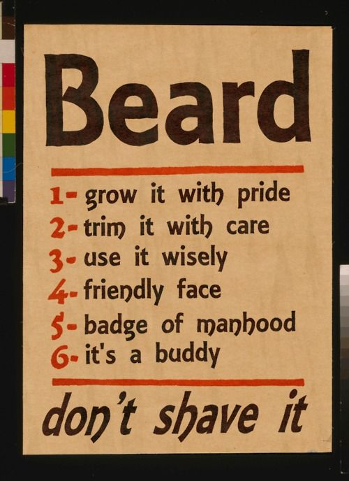 BEARD. Maybe I'll make one for the boyfriend and hang it in the bathroom to remind him to 2. Trim it with care