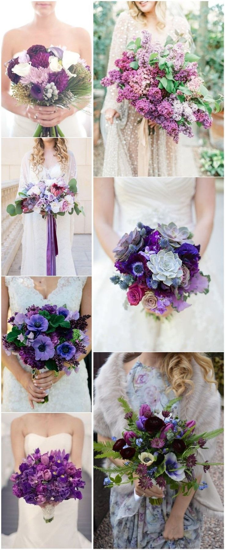 Color Of the Year 2018 - 20 Ultra Violet Wedding Bouquet Ideas #wedding #bouquet #WeddingIdeasBlue