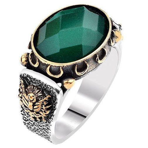 Taşlı Erkek Yüzük - Doğal yeşil faset kesim akik taşlı yüzük 925 ayar gümüştür. Yüzüğün ağırlığı ölçünüze göre 13 ile 18 gr arasında değişmektedir. Sipariş verirken yüzük ölçünüzü girmeyi unutmayınız. / http://www.yuzuksitesi.com/tasli-erkek-yuzuk-10126