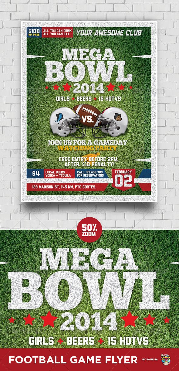 205 best Football Flyer Templates PSD ⚽ images on Pinterest Font