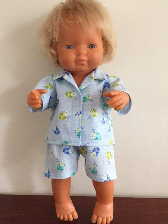 Blue Beetles Shortie Pyjamas by DebsDollsClothes on Etsy